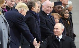 Donald Trump et Vladimir Poutine le 11 novembre 2018 à Paris