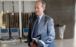 Thierry Gaubert, ancien collaborateur de Nicolas Sarkozy, arrive au tribunal correctionnel de Nanterre (photo prise le 6 février 2012).