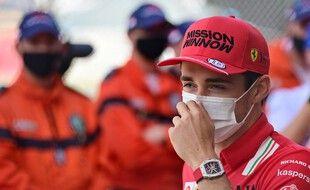 La monoplace de Leclerc est trop endommagée après la séance de qualif de samedi.