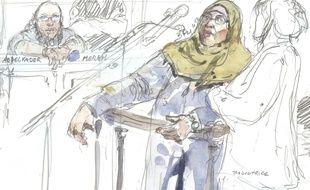 La mère des frères Merah à la barre de la cour d'assises spéciale de Paris, le 18 octobre 2017.