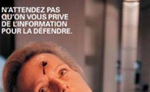 Campagne RSF pour la liberté de la presse, avec Christine Ockrent