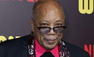 Le producteur Quincy Jones à la première de Sandy Wexler à Hollywood