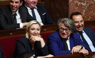 Marine Le Pen et Gilbert Collard en 2017 à l'Assemblée.