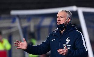 Didier Deschamps, le 31 mars 2021 en Bosnie.
