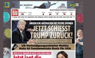 Capture d'écran du site du journal «Bild»