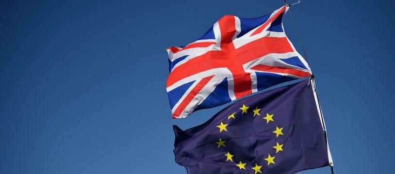 Illustration du Brexit, divorce entre le Royaume-Uni et l'Europe.