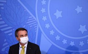 Illustration de Jaie Bolsonaro, président du Brésil.