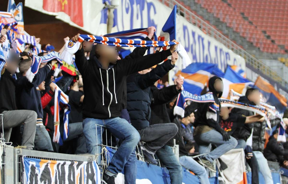Des supporters de la Butte Paillade, à la Mosson. – N. Bonzom / Maxele Presse