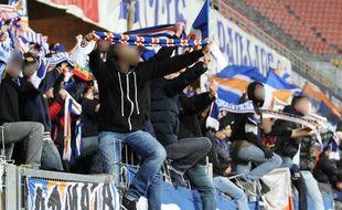 Des supporters de la Butte Paillade, à la Mosson.