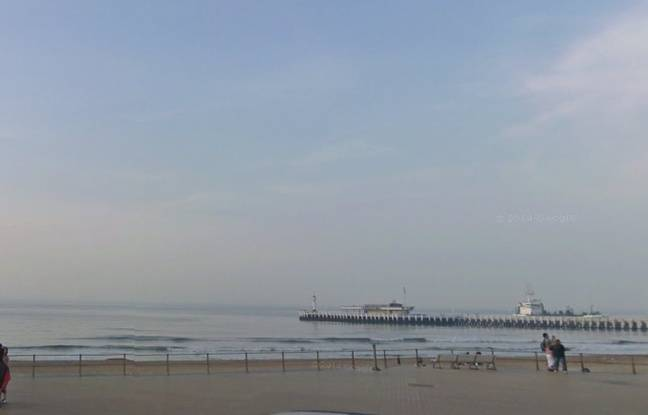 La plage d'Ostende, sur la côte belge