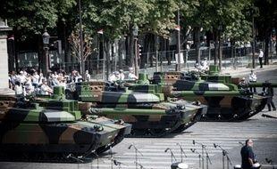 Le défilé militaire du 14-Juillet.
