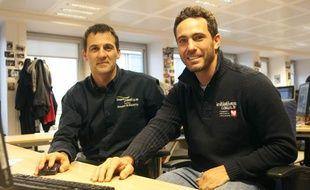 Les navigateurs Tanguy De Lamotte et Alessandro Di Benedetto, le 27 février 2013.