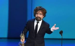 Peter Dinklage, sacré meilleur second rôle dans une série dramatique aux 70e Emmy Awards, le 17 septembre 2018 à Los Angeles.