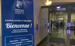 L'une des entrées de l'université Catholique de Lille