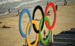 Illustration, anneaux olympiques