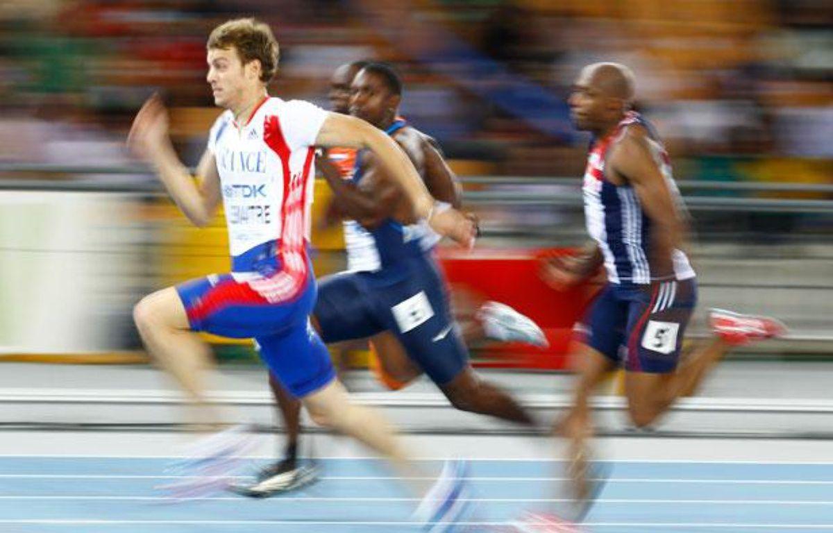 Christophe Lemaitre aux championnats du monde de Daegu. – Kai Pfaffenbach / Reuters