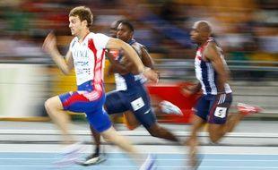 Christophe Lemaitre aux championnats du monde de Daegu.