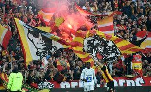 Les supporters du Racing Club de Lens.