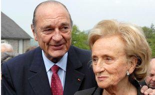 Le couple Chirac à Sarran (Corrèze) en 2007.