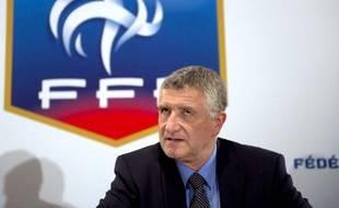 François Blaquart au siège de la FFF, le 29 avril 2011 à Paris.