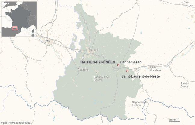 Lannemezan, dans les Hautes-Pyrénées.