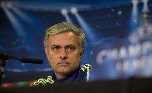 José Mourinho lors de la conférence de presse d'avant match contre le PSG, le 10 mars 2015.