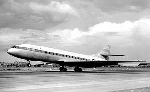 La Caravelle lors de son premier vol à Toulouse, le 17 mai 1955.