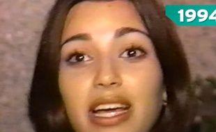 Kim Kardashian à 13 ans. Capture d'écran d'ET Online.