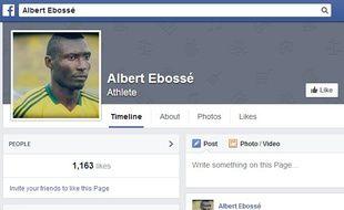 Capture d'écran de la page Facebook d'albert Ebossé