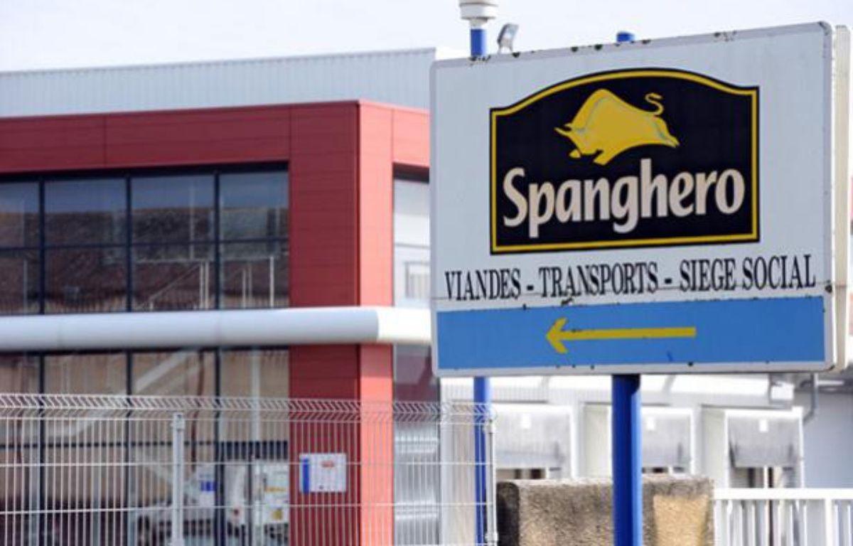 L'entrée de l'usine Spanghero, à Castelnaudary (Aude), le 10 février 2013. – R. GABALDA / AFP