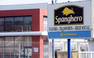 L'entrée de l'usine Spanghero, à Castelnaudary (Aude), le 10 février 2013.