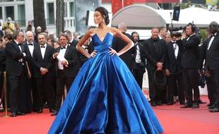 La top model Winnie Harlow au Festival de Cannes, le 18 mai 2017.