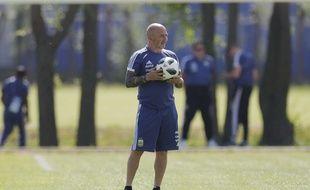 Jorge Sampaoli, le sélectionneur de l'Argentine, à l'entraînement à Kazan le 29 juin 2018.