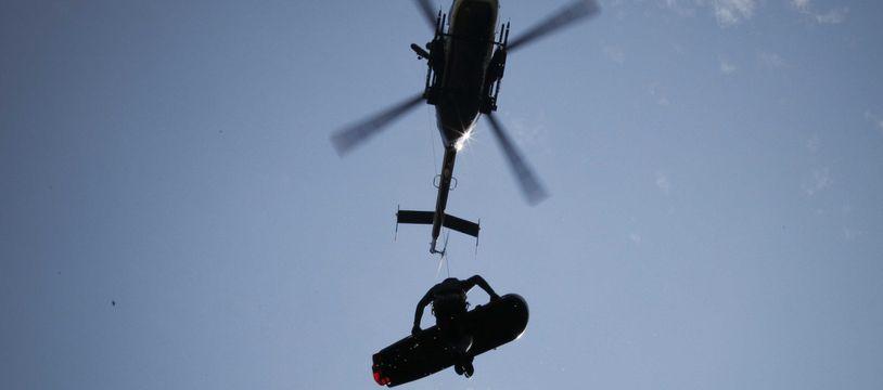 Un hélicoptère du PGHM. Illustration.