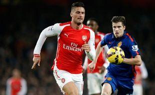 L'attaquant d'Arsenal Olivier Giroud contre Manchester United, le 22 novembre 2014.