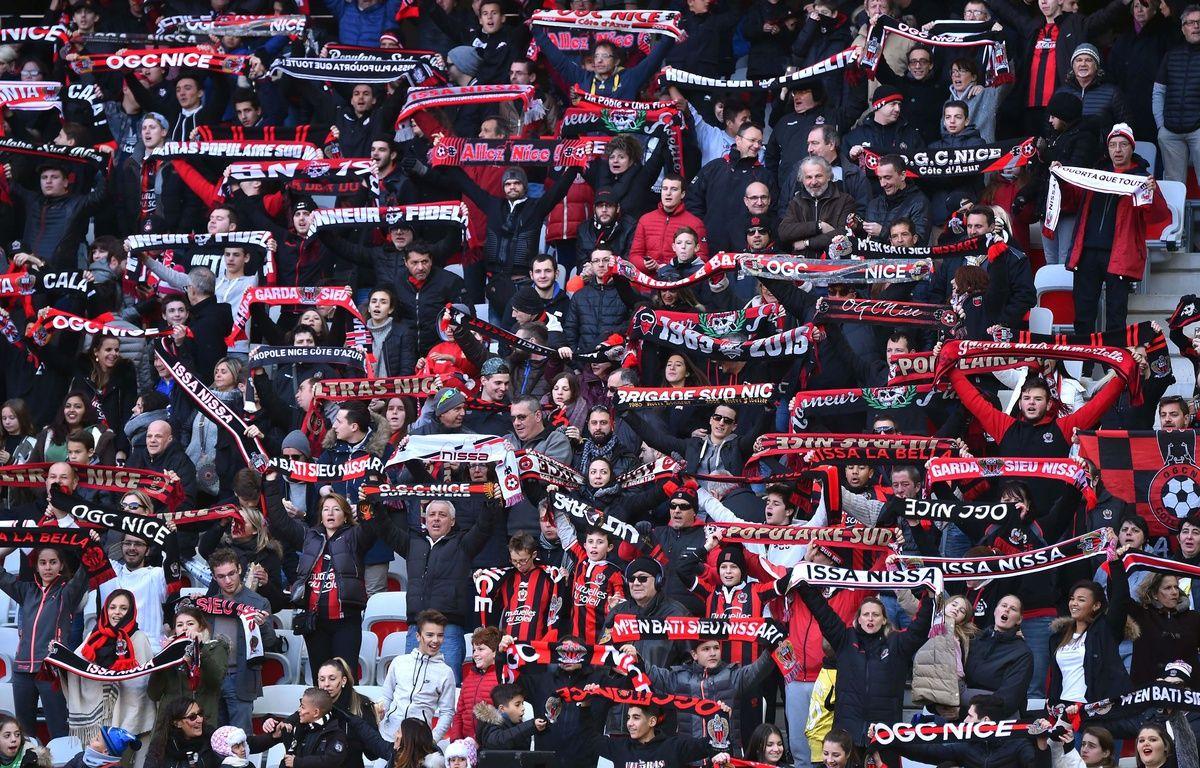 Des supporters de l'OGC Nice. Illustration. – B. Bebert - Sipa