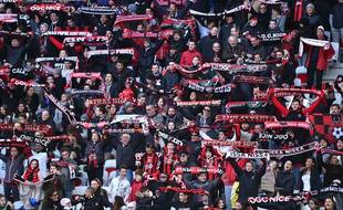 Des supporters de l'OGC Nice. Illustration.