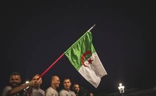 Des supporters algériens après la victoire de l'Algérie à la CAN 2019.