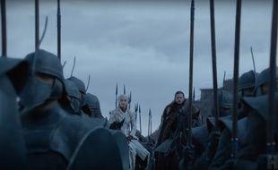 Daenerys et Jon (et deux trois soldats de leur armée) dans le teaser de la saison 8 de «Game of Thrones».