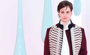 Chris (ex-Christine and the Queens), lors d'un événement Burberry, à New York, en mai 2017.