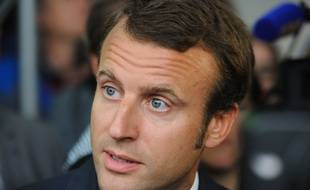 Emmanuel Macron, le 2 septembre 2014 à Romagny.