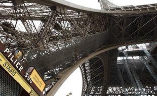 La Tour Eiffel reste fermée suite à un mouvement social, le 26 juin 2013.