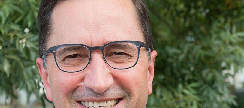 Albert Sanchez, le maire de Cugnaux, lors de la campagne des municipales.