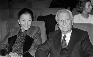 Edmonde Charles-Roux et Gaston Defferre le 8 novembre 1984 à Paris
