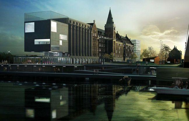 Vue du projet immobilier des Grands Moulins de Paris, à Marquette-lez-Lille