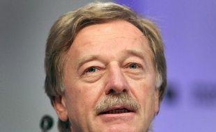 Yves Mersch, membre du directoire de la BCE, le 17 novembre 2014 à Francfort