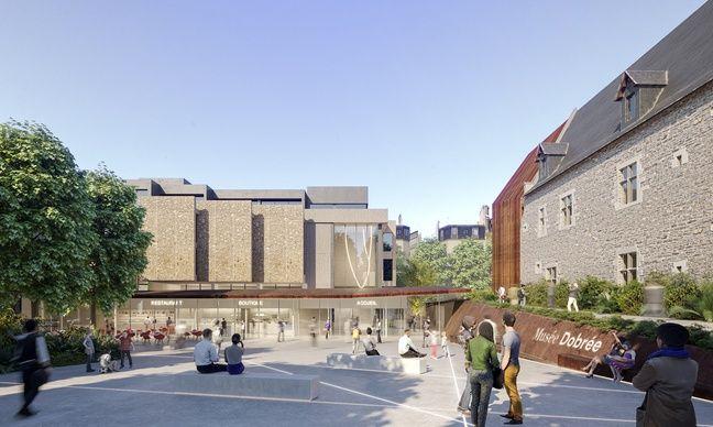 Le parvis principal du nouveau musée Dobrée