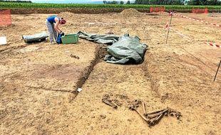 Deux squelettes ont été mis au jour lors de fouilles à Furdenheim.
