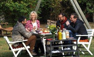 Tournage de l'emission de Frédéric Lopez «La Parenthèse inattendue» Avec Adriana Karembeu, François Xavier Demaison et Garou.