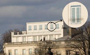 La structure sur le toit de l'ambassade des Etats-Unis à Paris, le 22 février 2015.